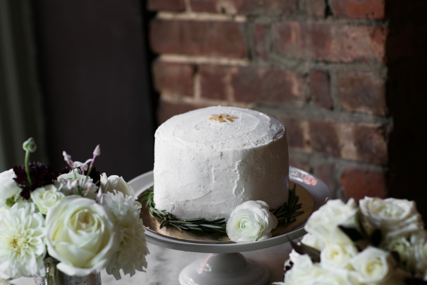 Intimate Wedding NYC wedding cake