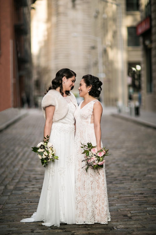 Lesbian wedding photographer in New York City