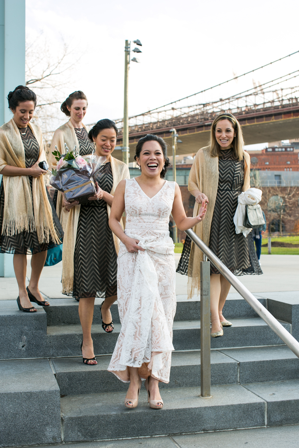 Lesbian Wedding first look | photographed by Amber Marlow, NYC