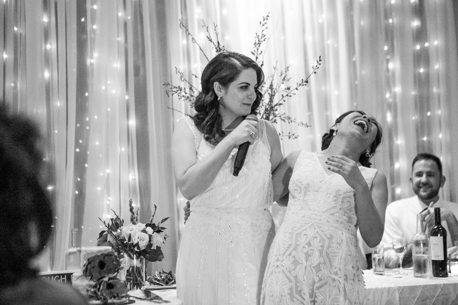 Brooklyn wedding toast | photographed by Amber Marlow, NYC