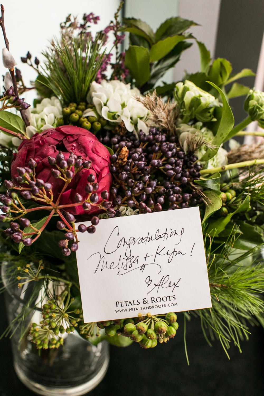 Petals and Roots bridal bouquet NYC