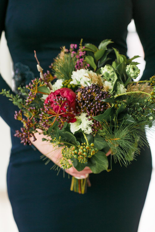 Petals and Roots Elopement bouquet