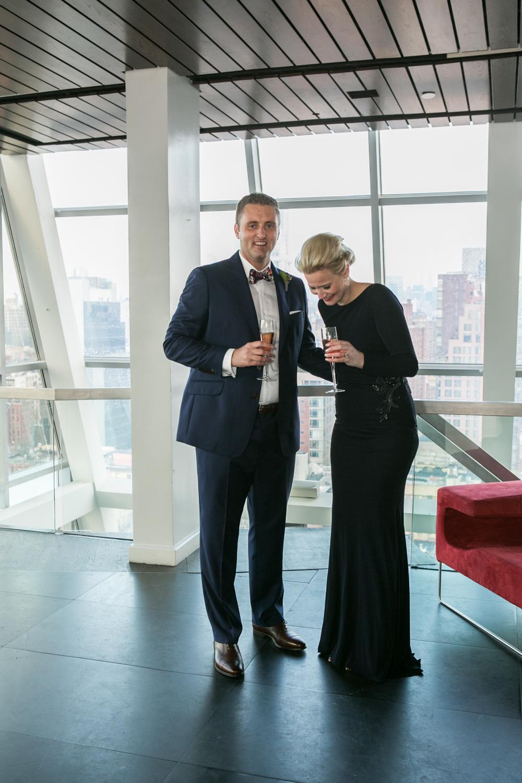 Black tie elopement in New York City