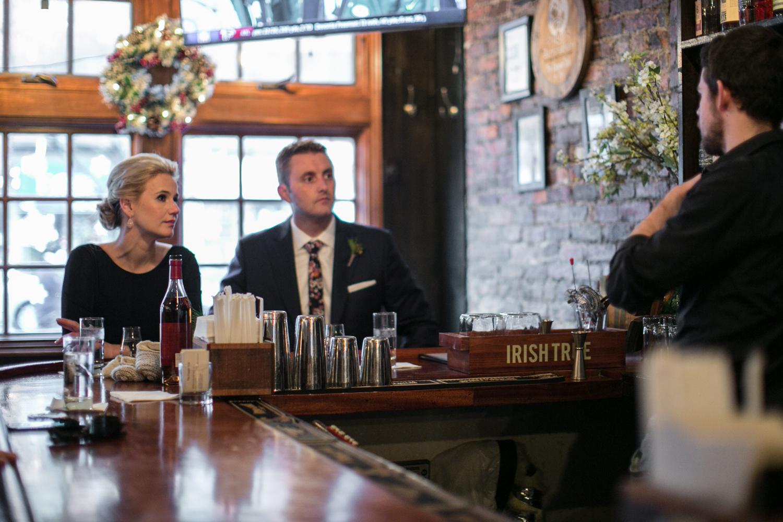 Manhattan Elopement in a NYC Bar