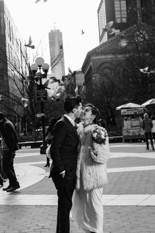 NYC Washington Square Park Elopement Photos