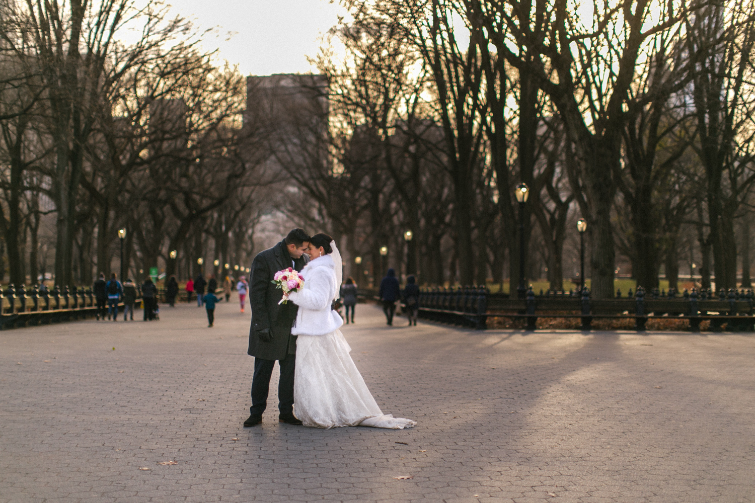 Bride and groom after NYC elopement