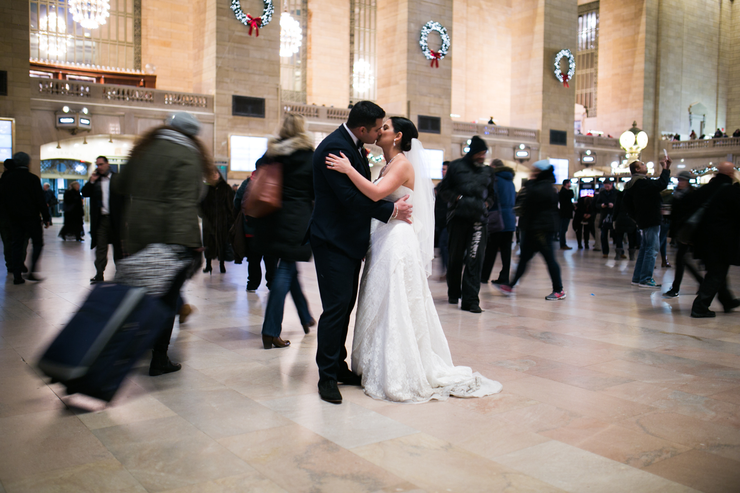 Kissing in grand central station