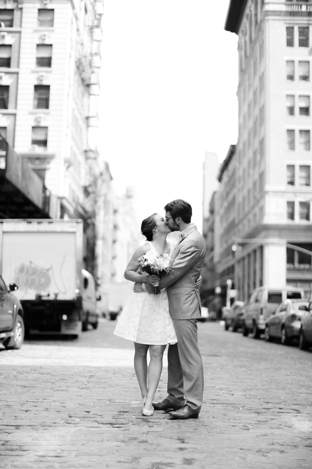 Black and white NYC wedding photography