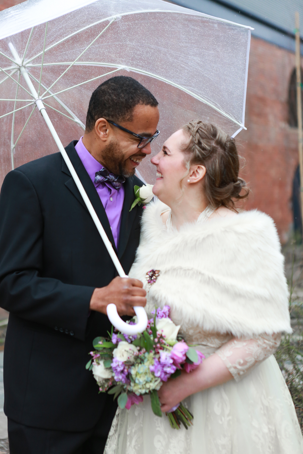 Rainy NYC elopement
