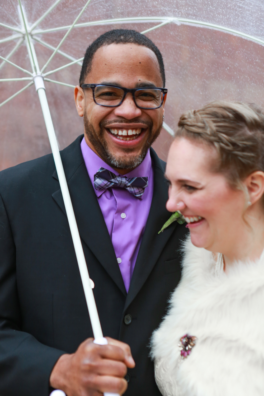 Wedding photograph of NYC bride and groom