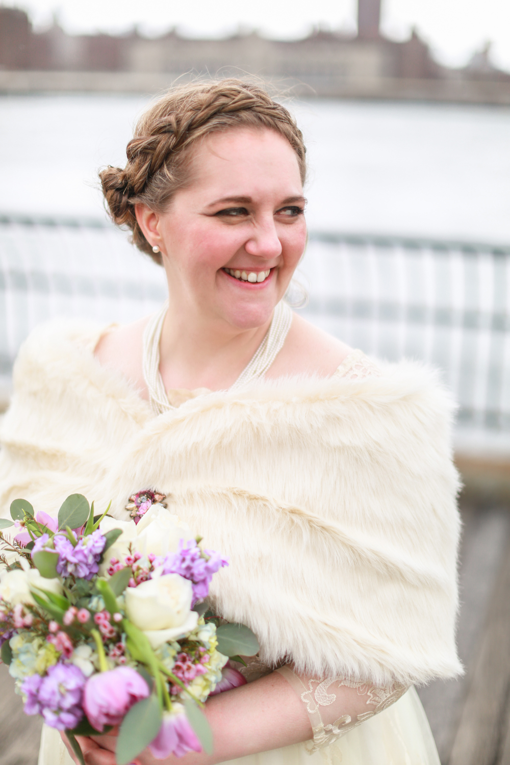 Bride with  Michaleen's bouquet