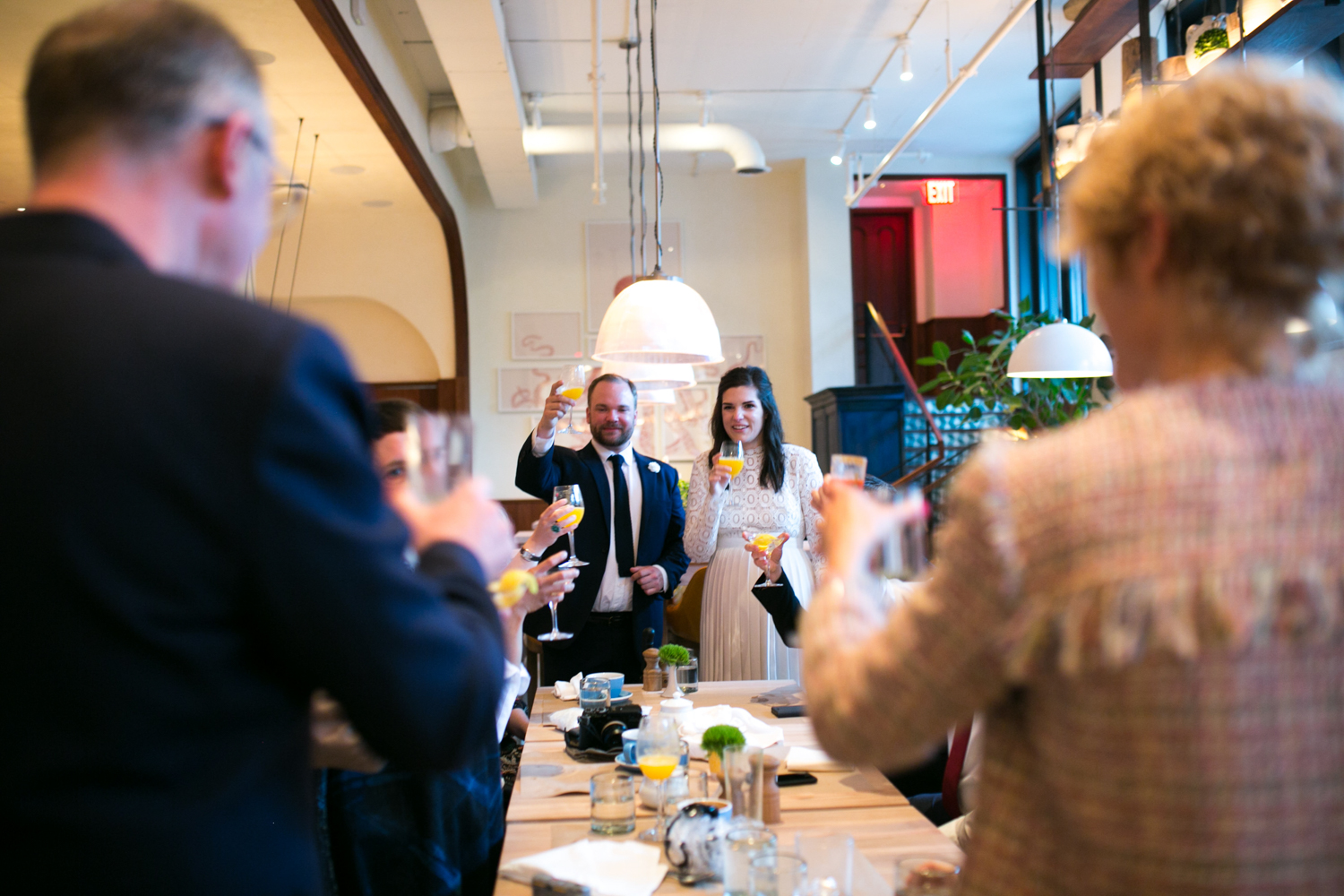 NYC Elopement celebration with friends and family