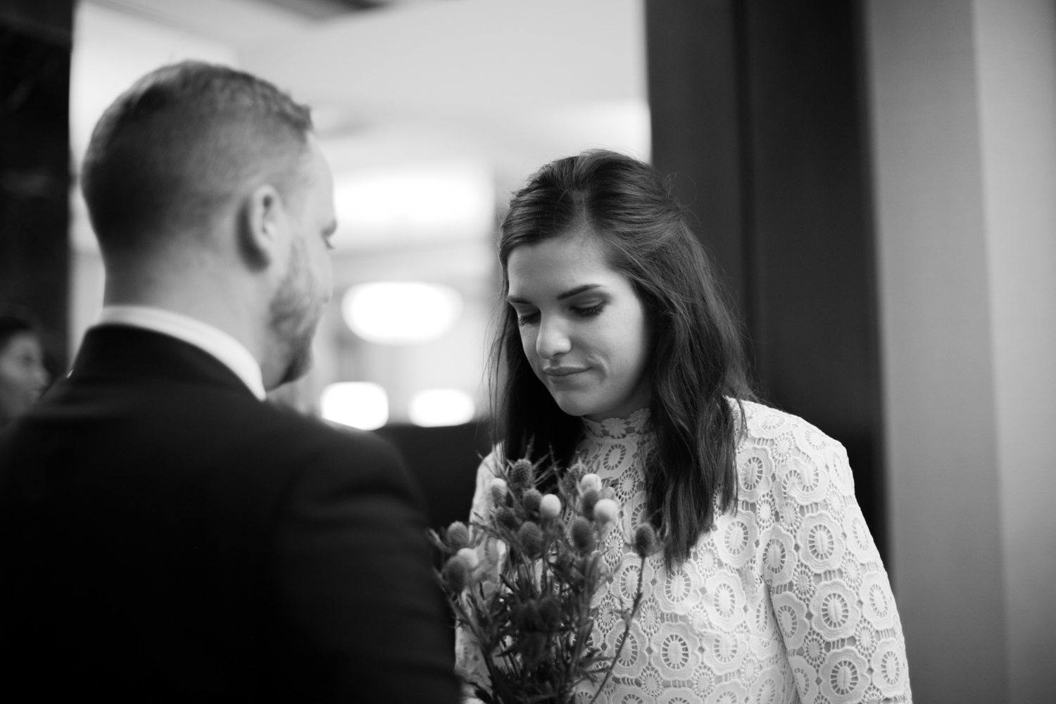 Black and white elopement photography