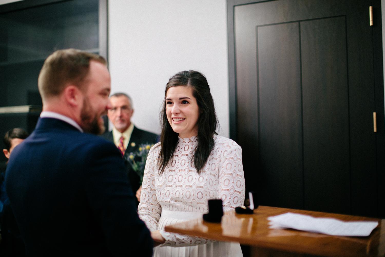 New York city hall wedding ceremony