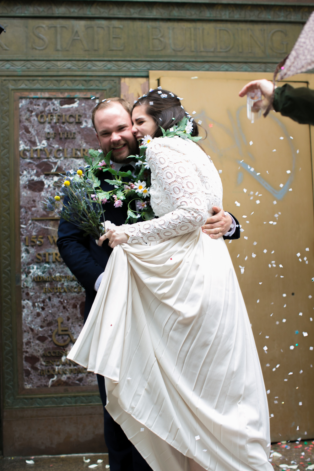 NYC Bride and groom celebrate their elopement