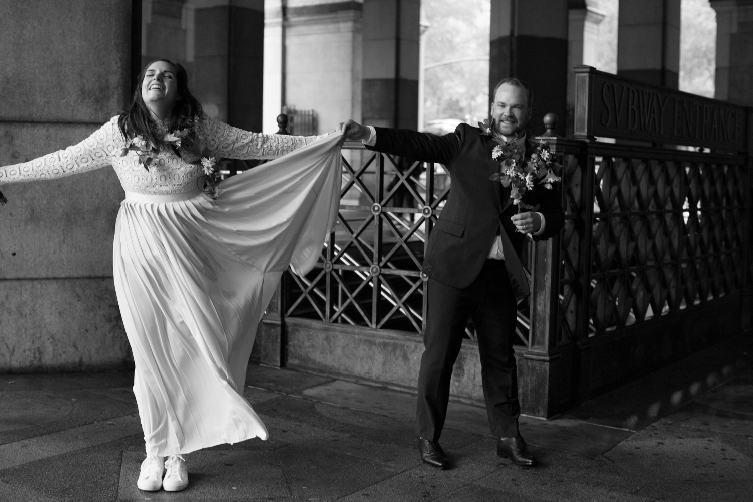 Dancing on elopement day
