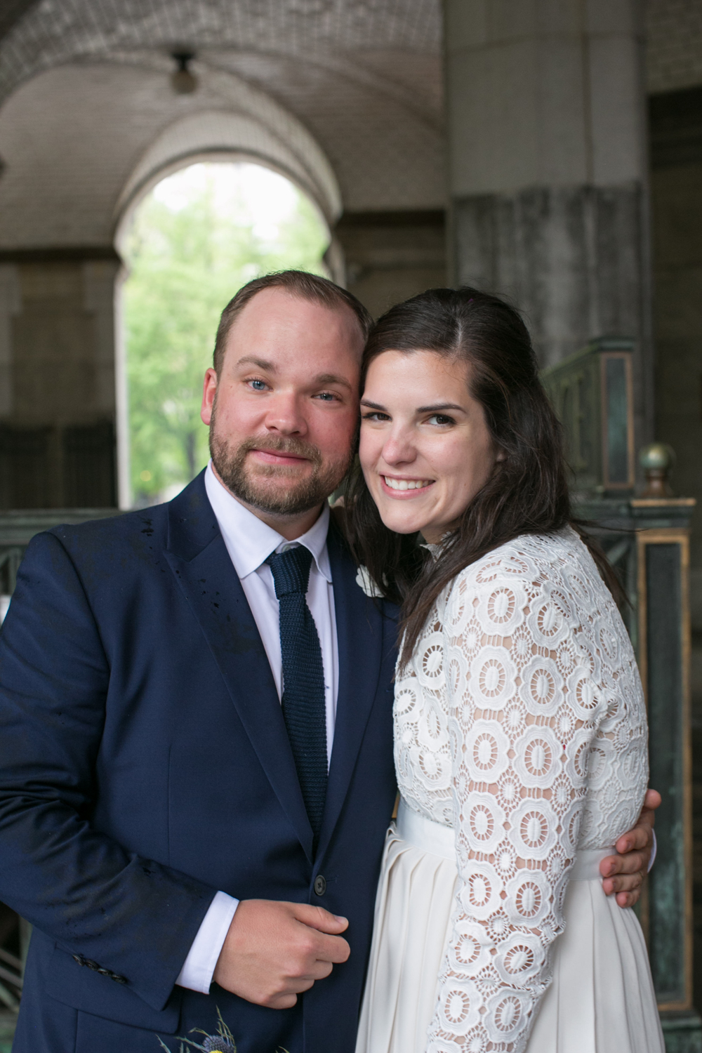 Photograph of bride and groom after elopement