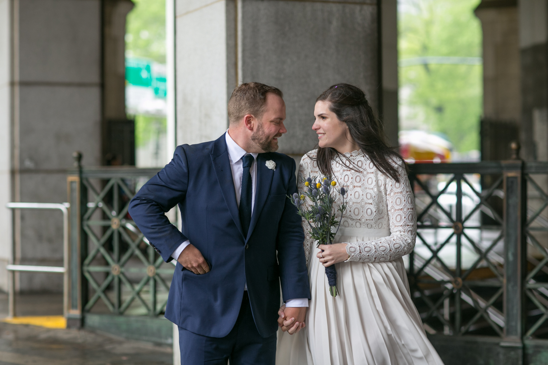 Newlyweds celebrate NYC elopement