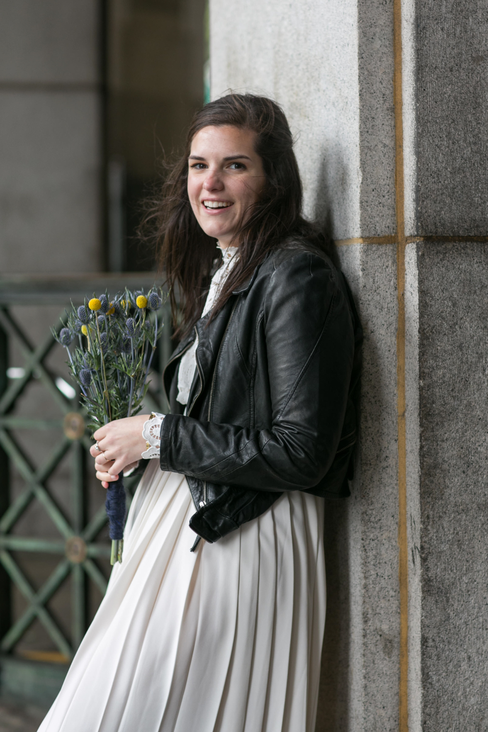 Photograph of New York Bride on elopement day