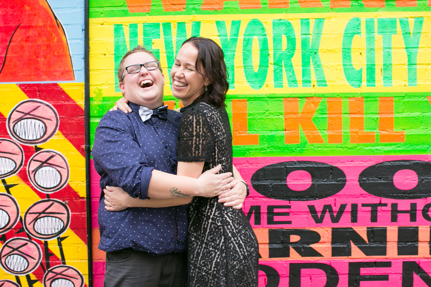 Fun photoshoot for NYC couples anniversary