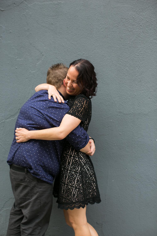 Anniversary hugs in NYC