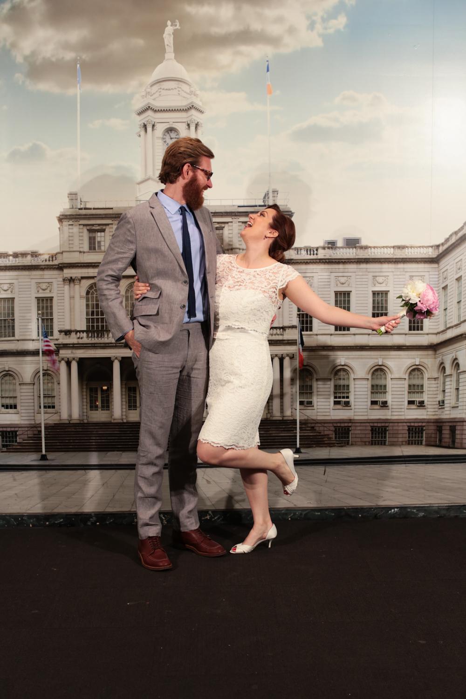 NYC Newlyweds celebrate elopement day