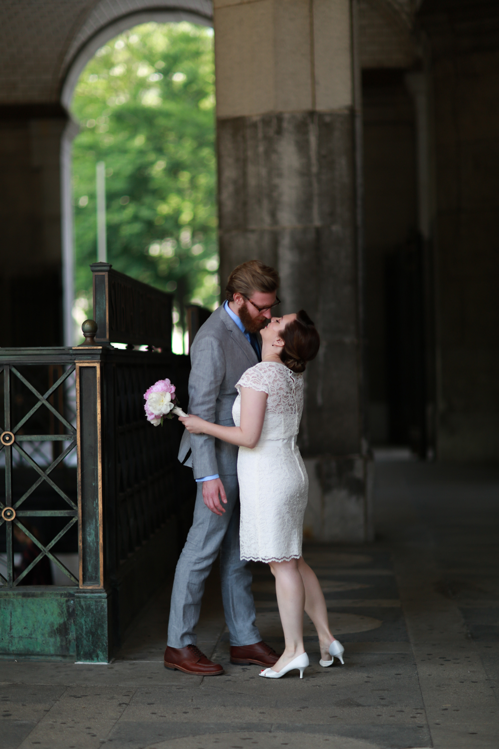 Bride and groom elope in New York City