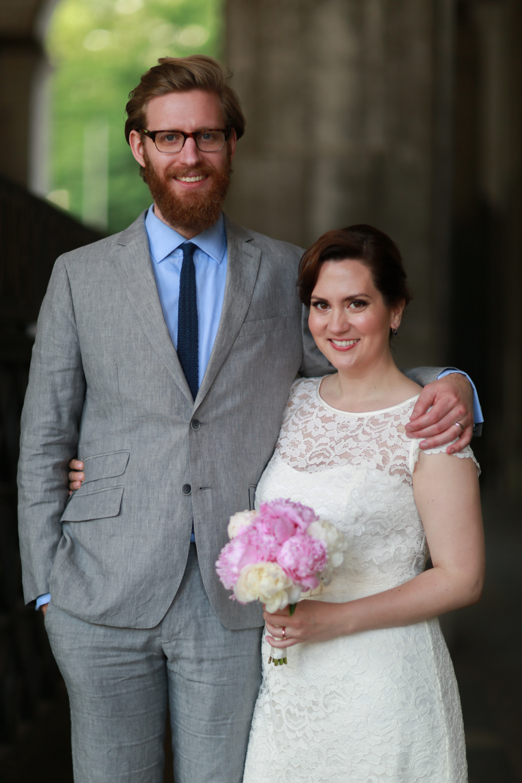 Photograph of NYC newlyweds