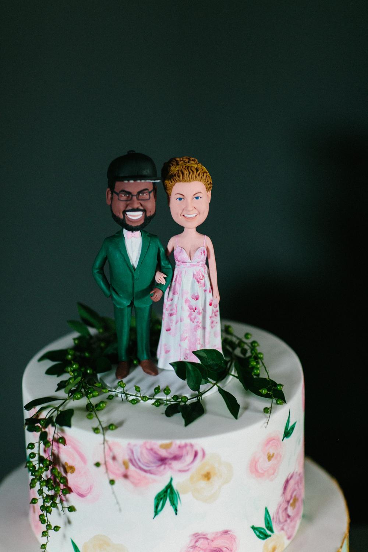 Cake topper for destination wedding