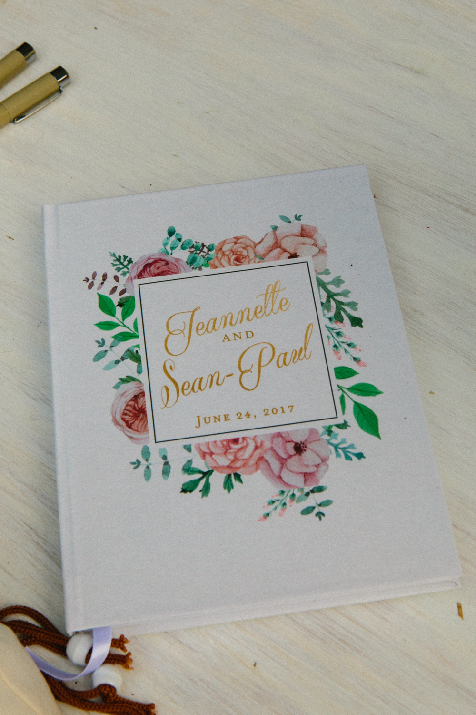 destination wedding guestbook