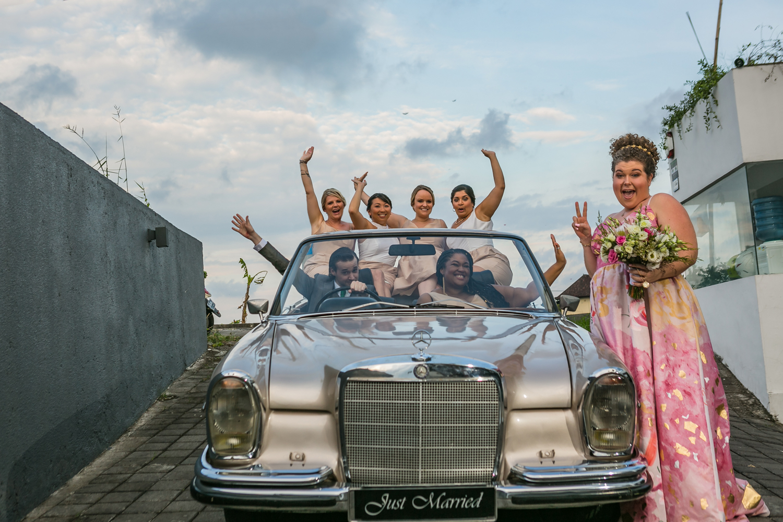 Destination wedding party