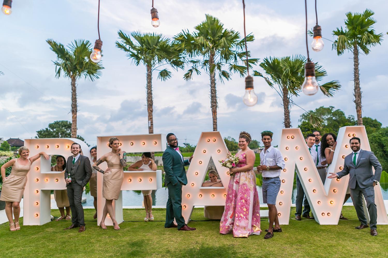 Destination wedding reception in Bali