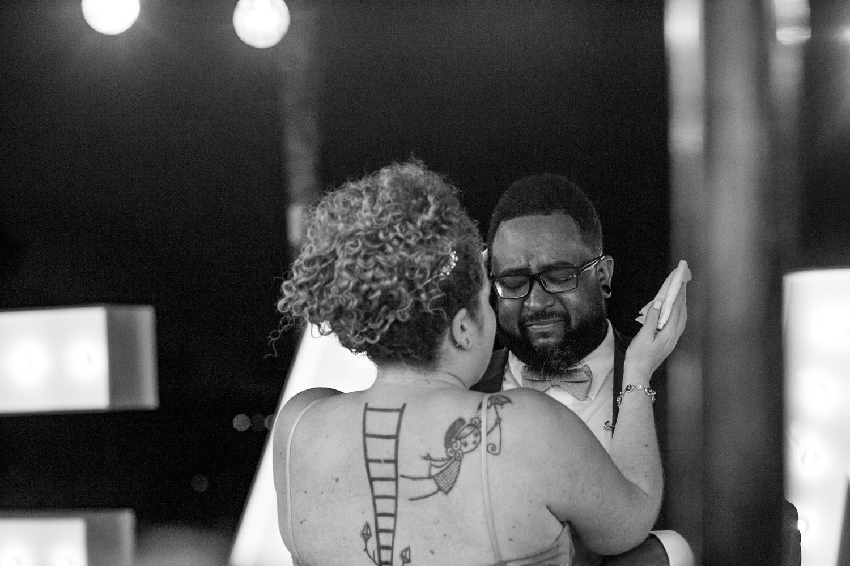 emotional first dance during destination wedding reception