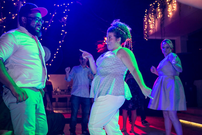 Bali bride and groom dance at destination wedding