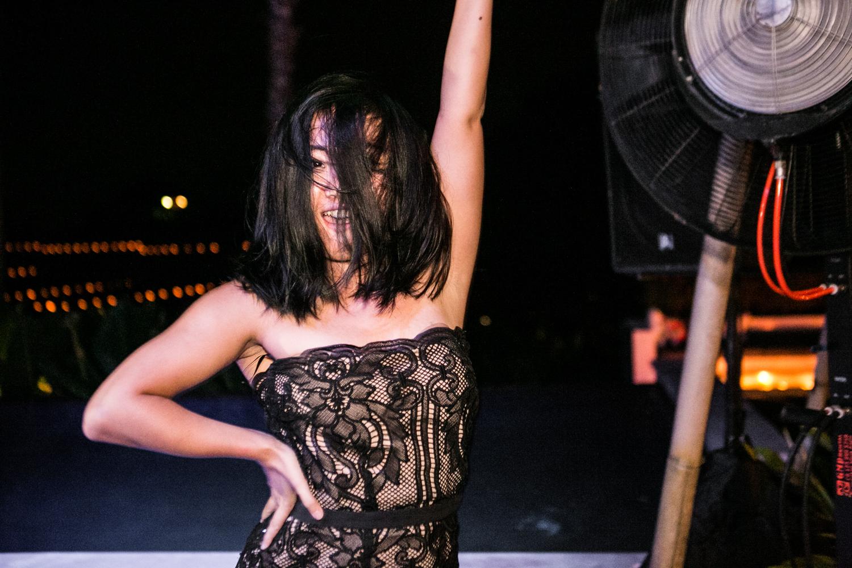 Dancing at destination wedding in Bali