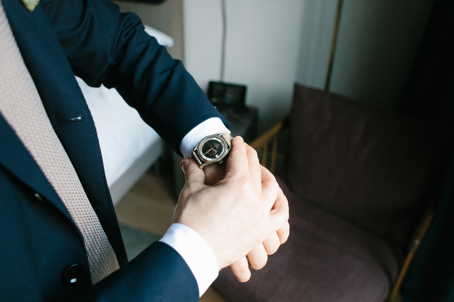Photograph of grooms watch