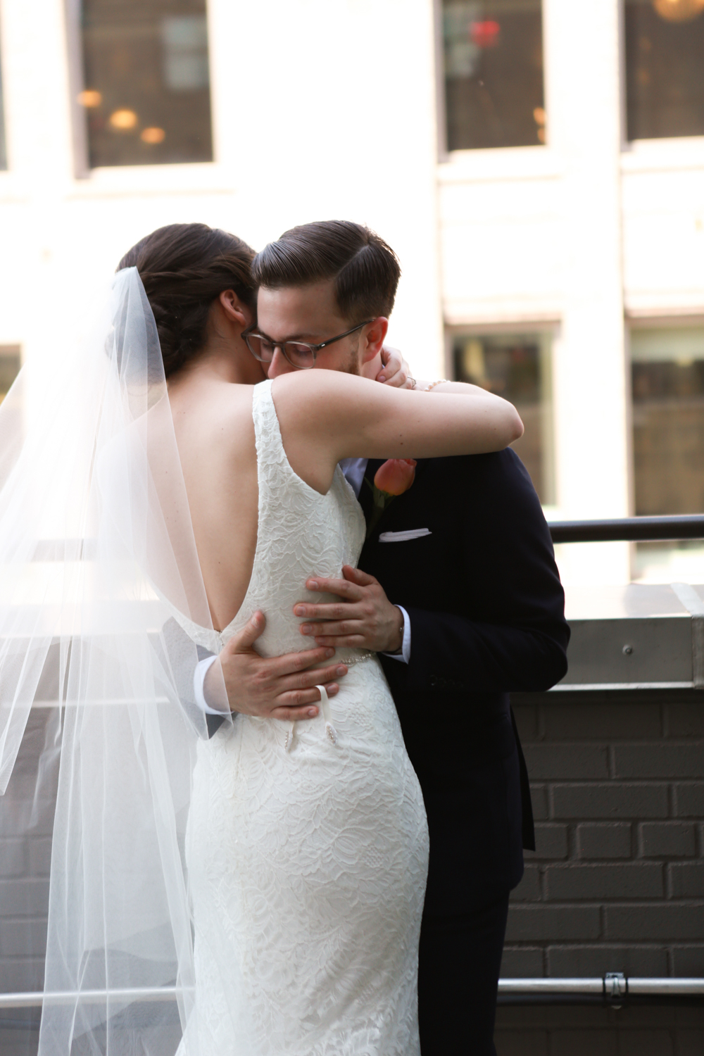 NYC Bride and groom on elopement day