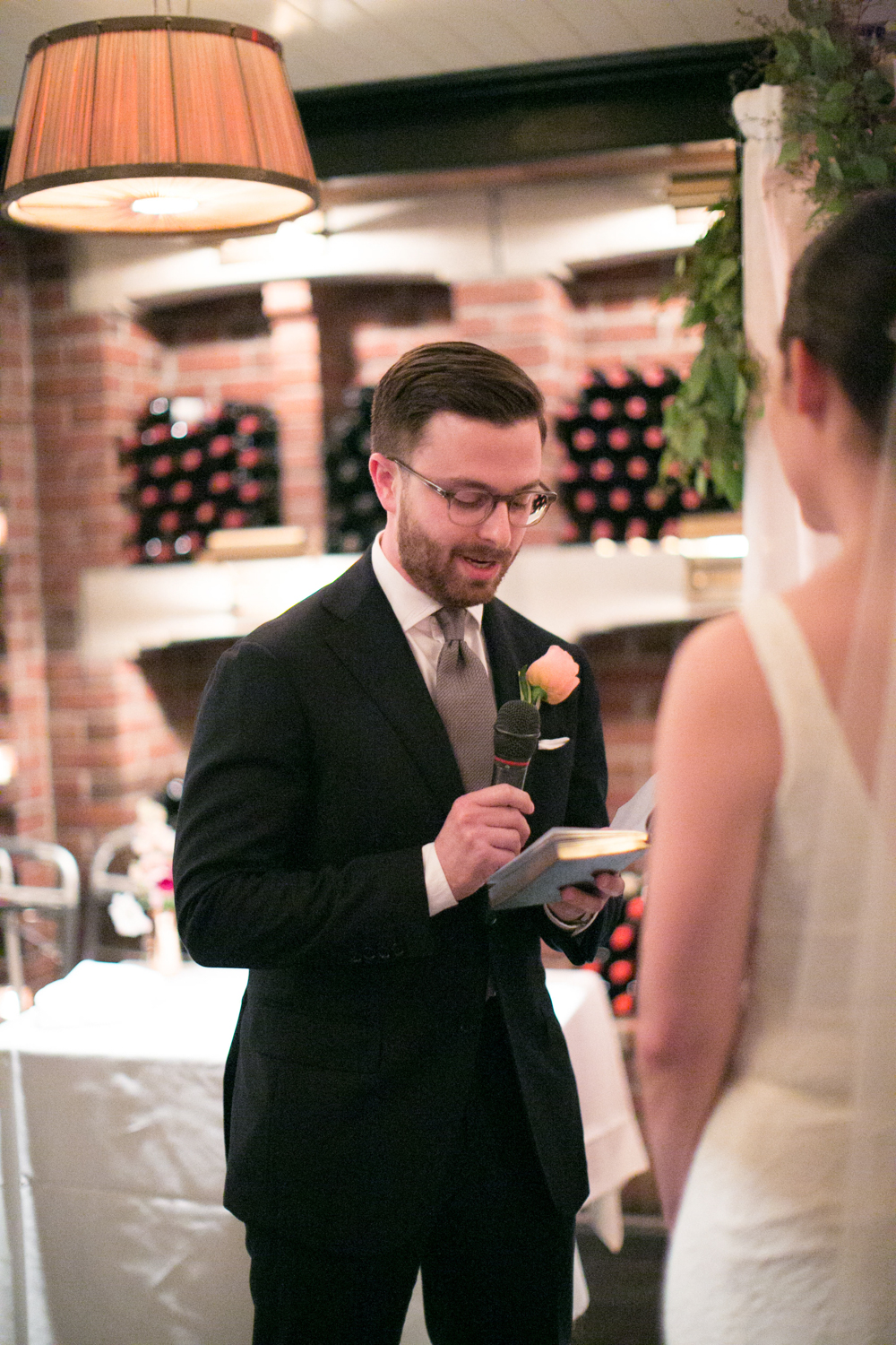NYC groom reads his wedding vows