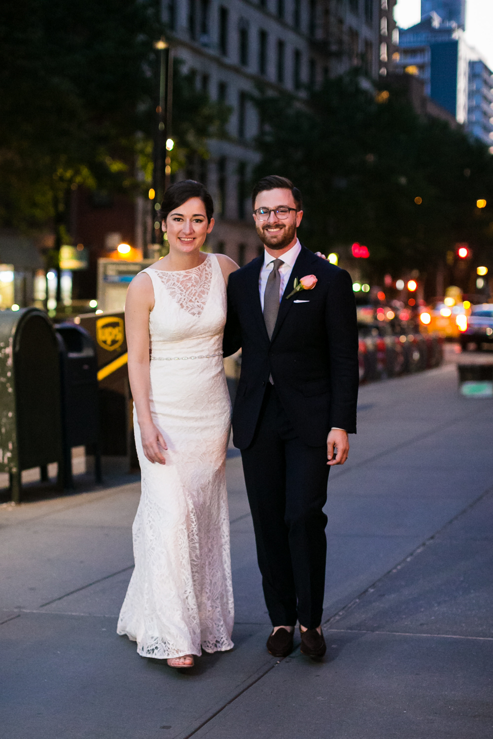 Bride and groom in New York City