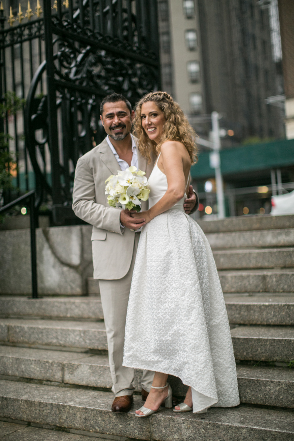 photograph of nyc bride and groom