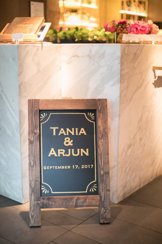 Custom-made wedding sign by Megan Webber Designs.