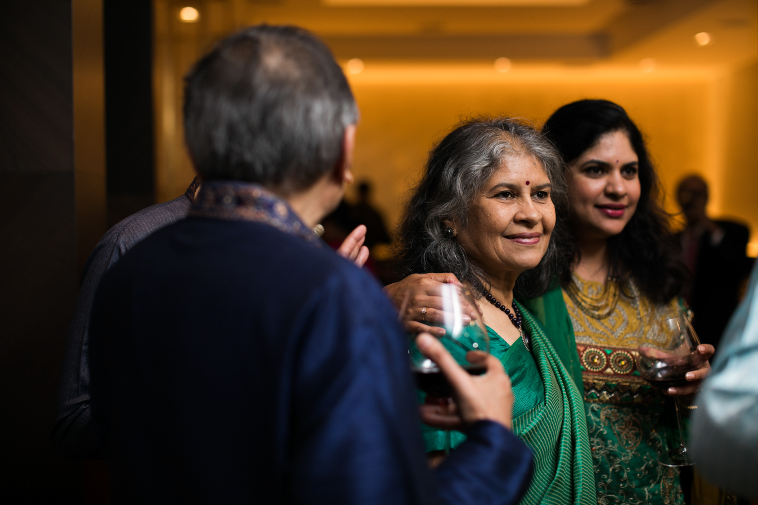 Intimate Indian wedding reception in New York City.