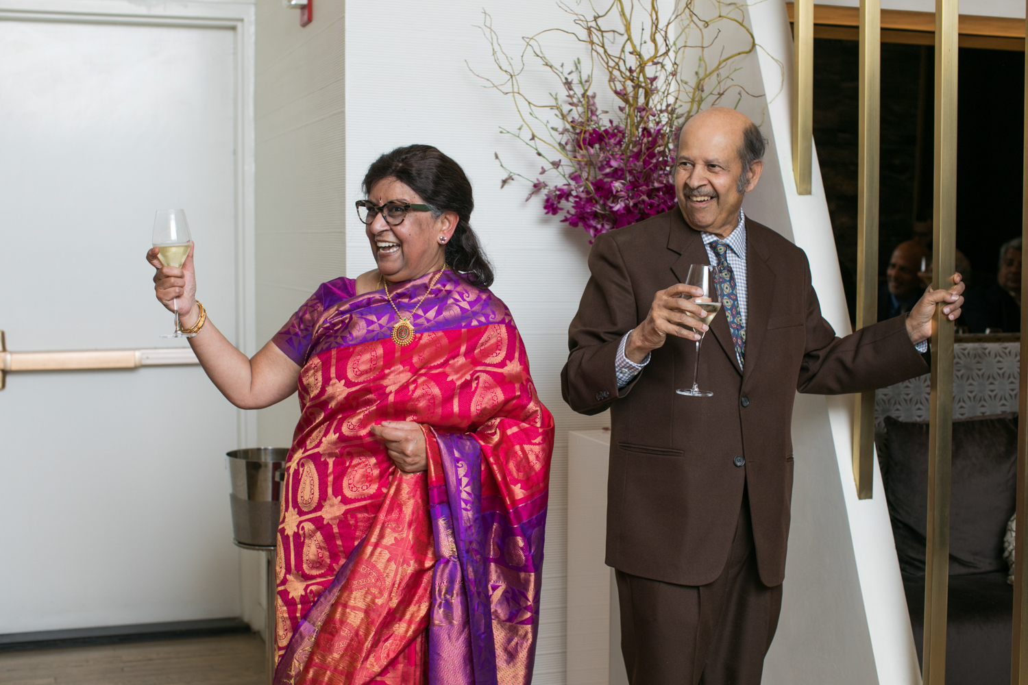 Family toasting at the wedding ceremony.
