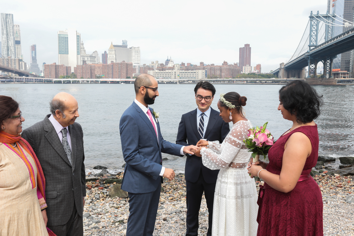 Brooklyn Bridge Park Wedding Ceremony