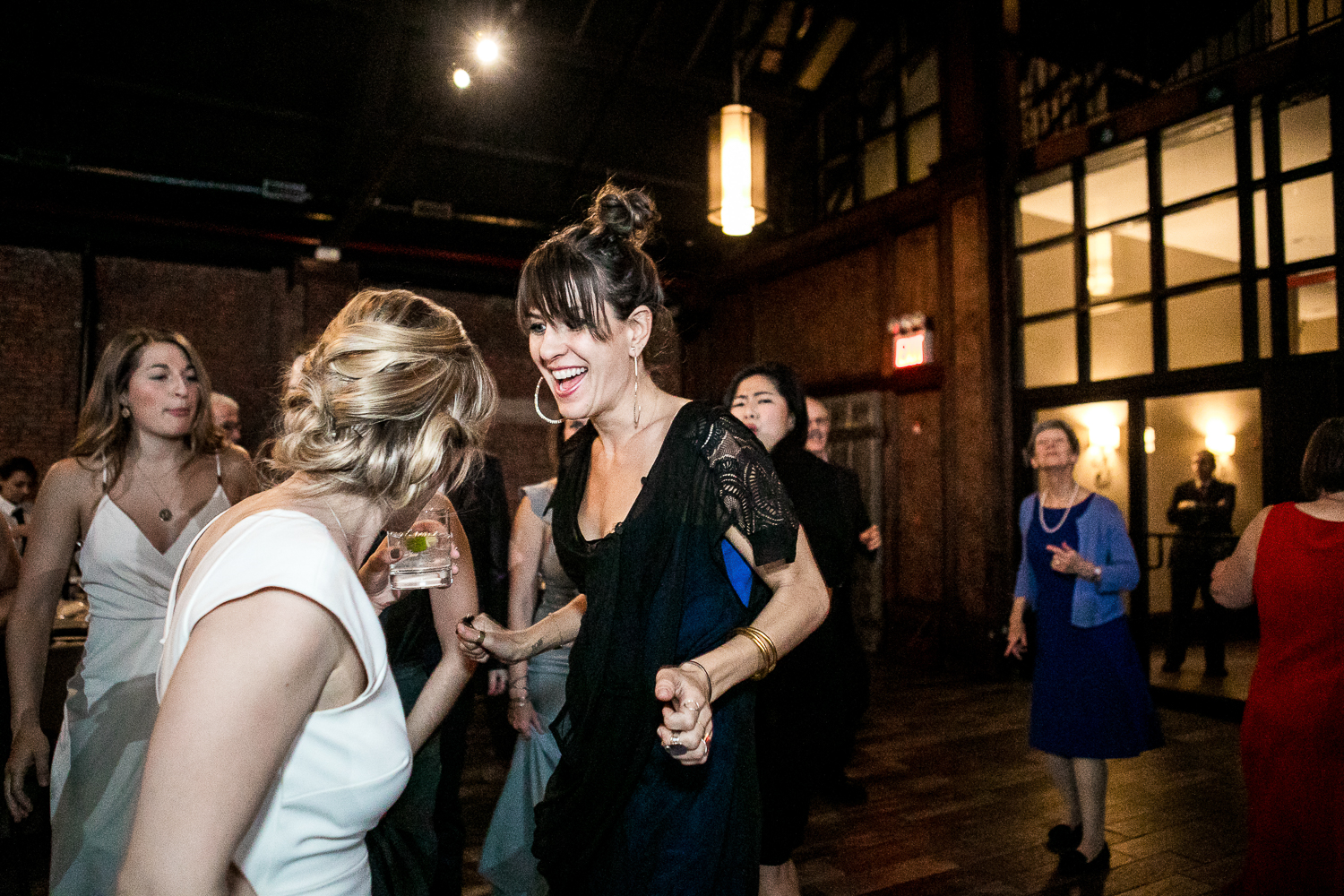Dancing at a wedding reception in New York | 26 Bridge Wedding Photos | Lesbian Brooklyn Wedding | Kristin and Marisa's Wedding