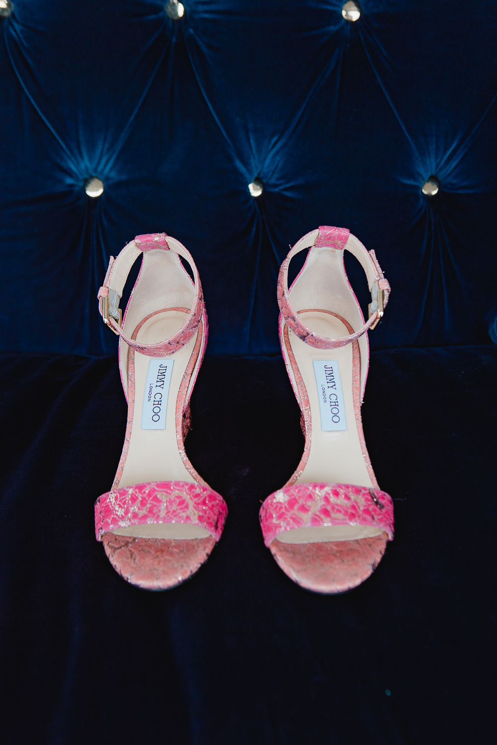 bride's jimmy choo shoes