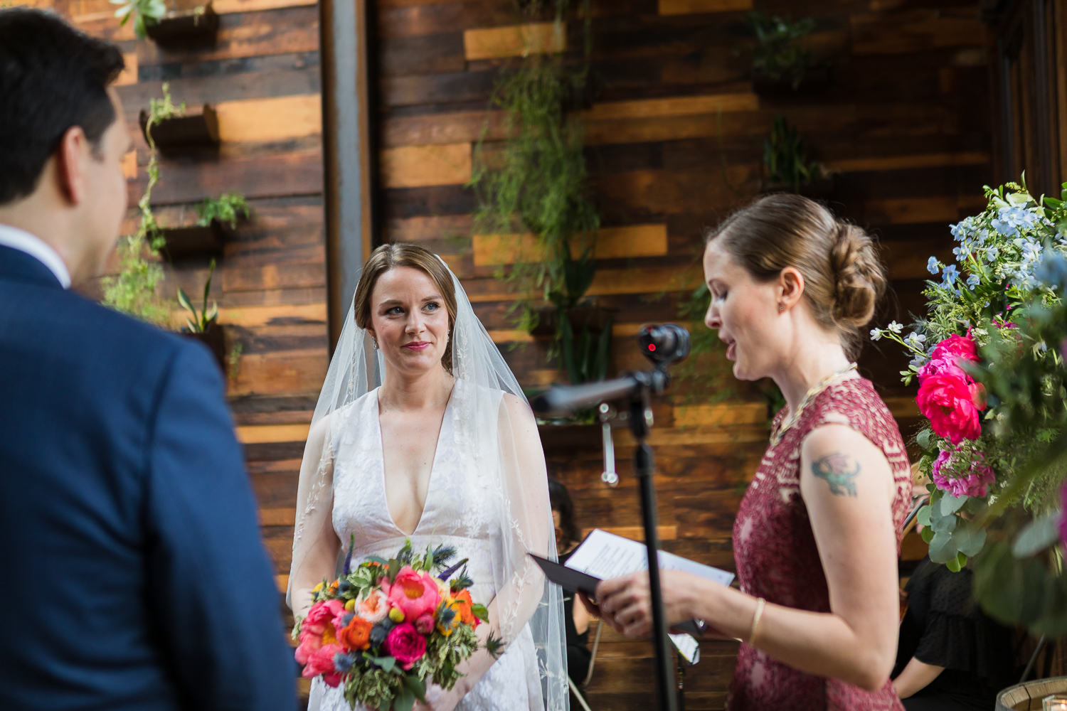 wedding ceremony at Brooklyn Winery