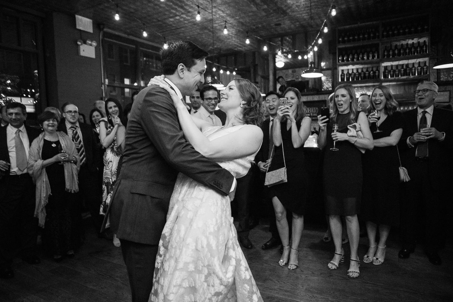 first dance at Brooklyn winery