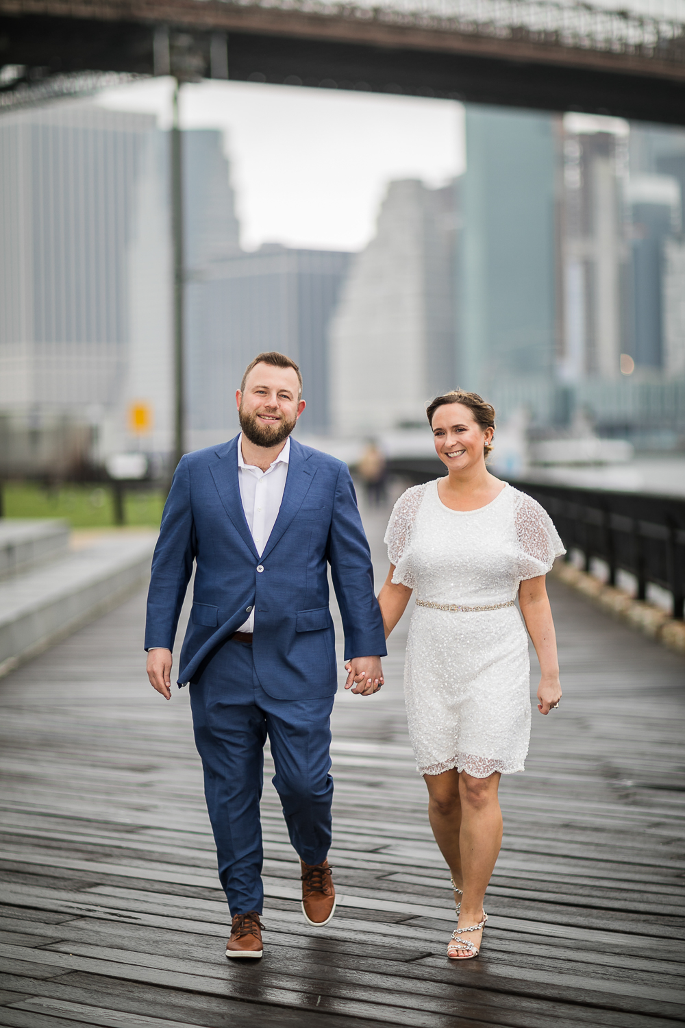 Outdoor wedding photos in New York City. | Intimate Wedding at the Malthouse in Manhattan, New York City.