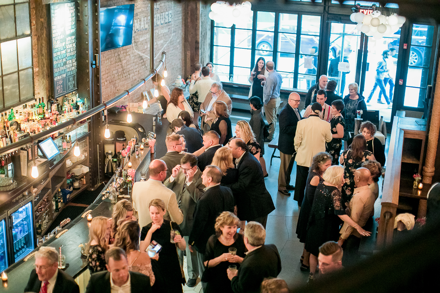 Intimate Wedding reception at the Malthouse in Manhattan, New York City.